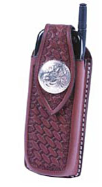 tooled custom leather cell phone case
